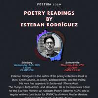 FESTIBA 2020: Visiting Author Esteban Rodríguez, Poetry Reading and Q&A