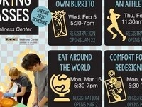 Eat around the world poster, Monday March 16th 5:30 - 7:00 pm