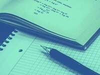 Image of a a pen and paper to represent learning
