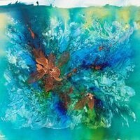 Copper Leaves by J. Northcott Mixed Media