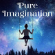 Small child on swing at night time with Pure Imagination in text