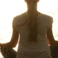 individual meditating.