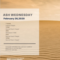 Ash Wednesday Masses