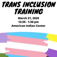 Trans Inclusion Training