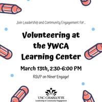 Volunteering at the YWCA Learning Center (Sugaw Creek)