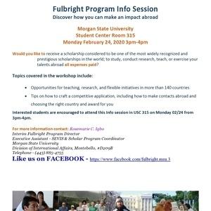 Fulbright Program Info Session