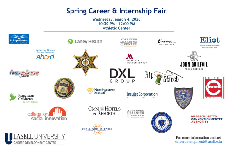 Career and Internship Fair at Athletic Center