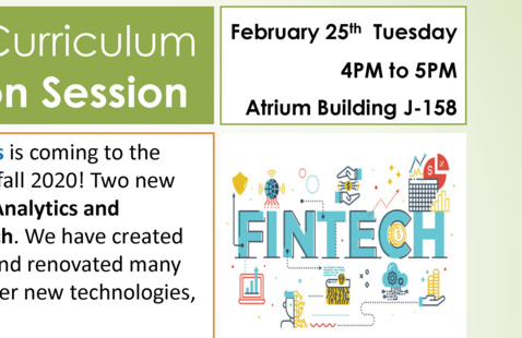 Information Session on BSIT new concentrations – Data Analytics and Technology and Fintech