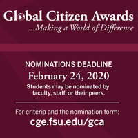Global Citizen Award Deadline