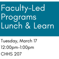 Faculty-Led Study Abroad Programs Lunch & Learn