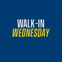 [CANCELLED] Walk-in Wednesdays