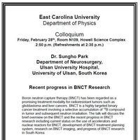 Physics Colloquium on February 28th!- Dr. Sungho Park