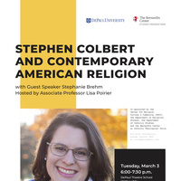 Stephen Colbert and Contemporary American Religions