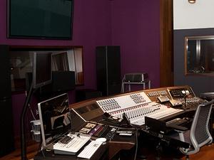Clonick Hall audio control room
