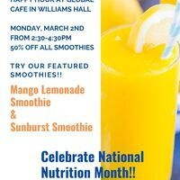 Happy Hour Smoothies @ Global 3/2 2:304:30pm | Dining