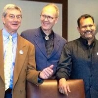From left, Lipmanowicz, McCandless and Singhal