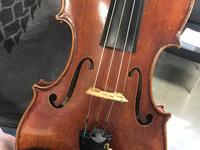 image of wooden violin