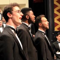Members of Miami University Men's Glee Club in concert