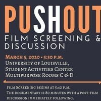 Criminal Justice presents PUSH OUT film screening & Panel Discussion