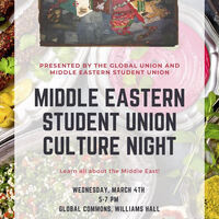 Middle Eastern Culture Night | Global Union