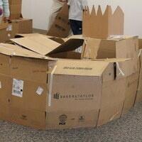 Cardboard Box Fort Building