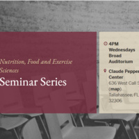 Nutrition, Food & Exercise Sciences Seminar Series