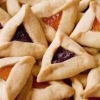 Hamantaschen Cookies (triangle cookies filled with jam)
