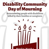Flyer with maroon clip art candles and event text.
