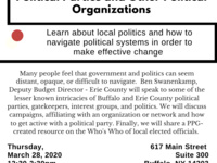POSTPONED Buffalo's Political Landscape: Political Parties and Other Political Organizations