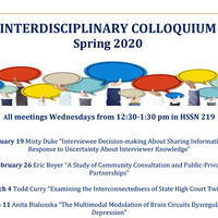 """Interdisciplinary Colloquium: """"Interviewee Decision-making About Sharing Information in Response to Uncertainty About Interviewer Knowledge"""""""