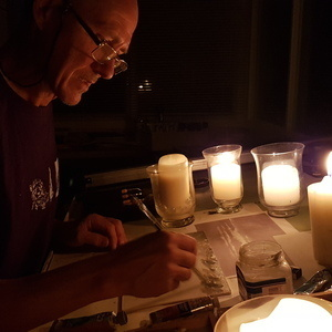 The Dark Arts-creating by candle light