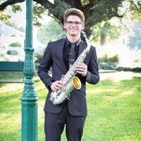 Morgan Webster with saxophone