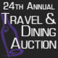 24th annual Travel and Dining Auction logo