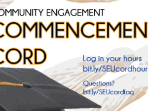 Community Engagement Commencement Cords Tabling
