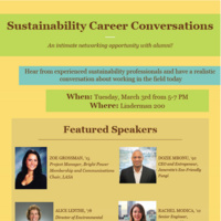 Sustainability Career Conversations | Sustainability