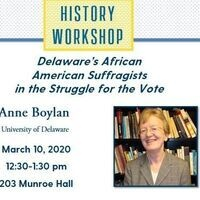 History Workshop - Anne Boylan