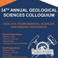 University of Texas at El Paso Department of Geological Sciences' 34th Annual Student Colloquium