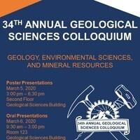 University of Texas at El Paso Department of Geological Sciences' 34th Annual Student Colloquium