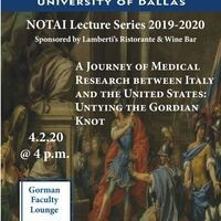 POSTPONED | A Journey of Medical Research between Italy and the United States: Untying the Gordian Knot