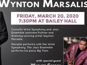 [CANCELLED] Wynton Marsalis, Wycliffe Gordon, CU Jazz, and the Cornell Wind Symphony