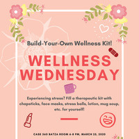 Poster of CAB Wellness Wednesday event
