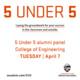 """5 Under 5"" Engineering Alumni Virtual Panel"