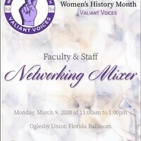 Women's History Month Faculty and Staff Mixer