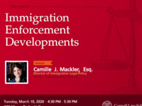 Update on Immigration Enforcement Developments by Camille J. Mackler, Esq.
