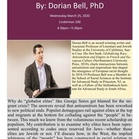 CANCELLED: Department of Modern Languages and Literatures Presents Dorian Bell, PhD