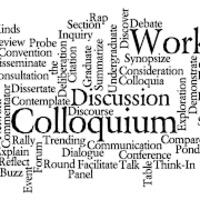 colloquium word graphic