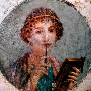 Painting of Sappho, the 10th Muse