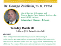 CIES Research Seminar - Dr. George Zsidisin