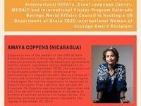 US Department of State 2020 International Women of Courage Award Recipient