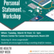Pre-Health Prep Week: Personal Statement Workshop